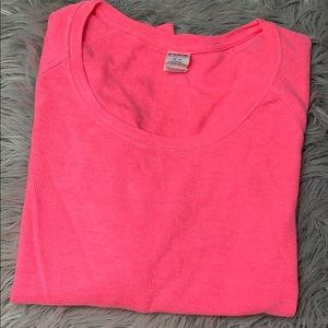 Pink Victoria's Secret long sleeve pink shirt